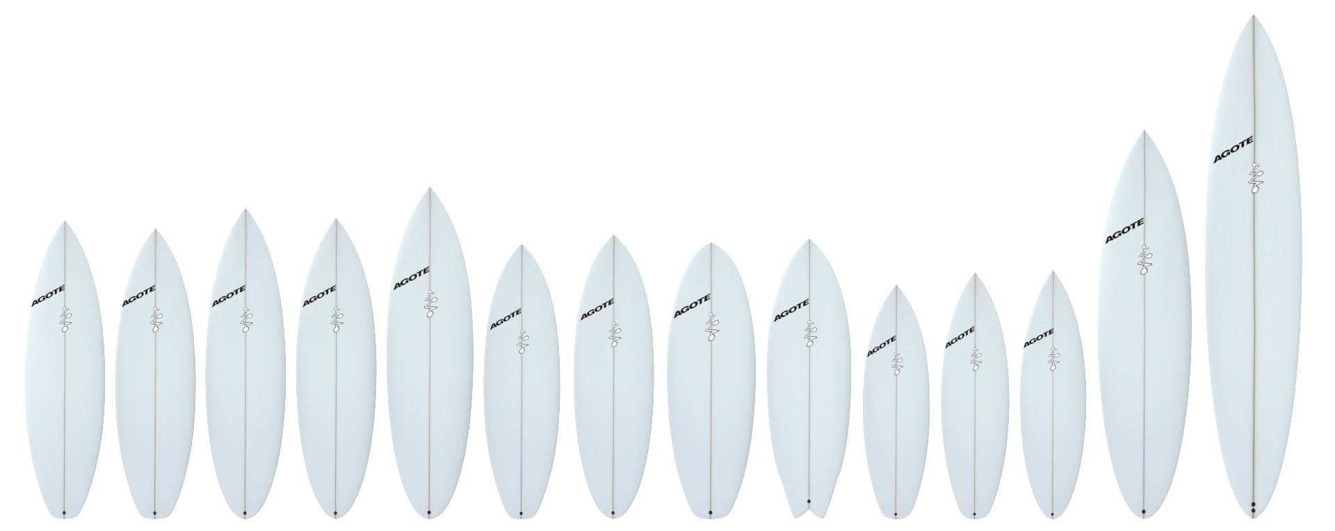Agote Surfboard Models / Catalog 2016